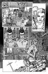 Harley Quinn  Issue # 2 Page 5 Inks with Greytones