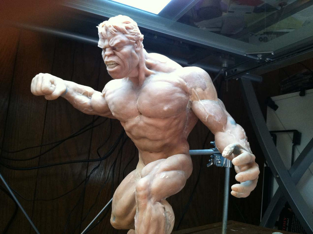 3-4-Left-Front view Hulk sculpture. by StephaneRoux