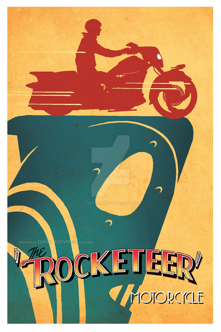 Rocketeer Motorcycle cast Shadow ad by StephaneRoux