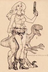 Hannah Dundee Inks from Cadillacs and Dinosaurs