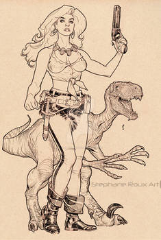Hannah Dundee Inks from Cadillacs and Dinosaurs