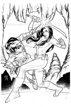 Robin and Talia Al Ghul training days