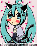 Hatsune Miku - Vocaloid by Shao-Pix