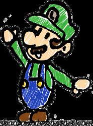 Luigi Paper Mario by Shao-Pix