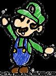 Luigi Paper Mario