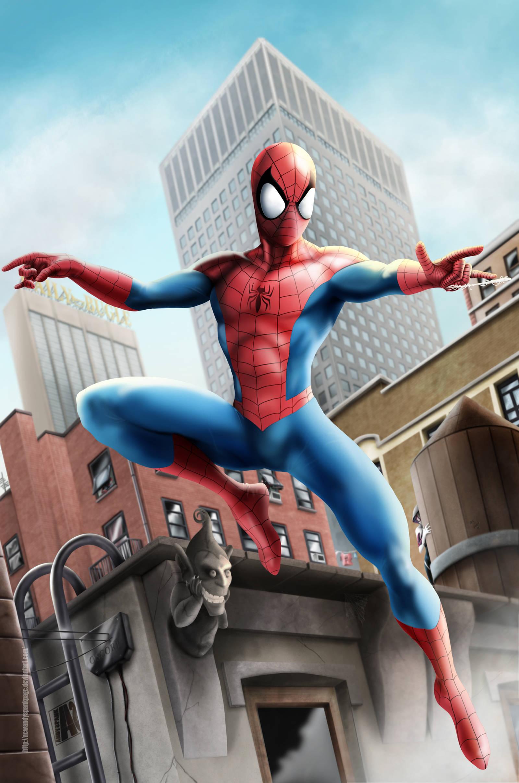Spider-man spied by NEWANDYSpankPaGE