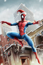 Spider merry christmas by NEWANDYSpankPaGE