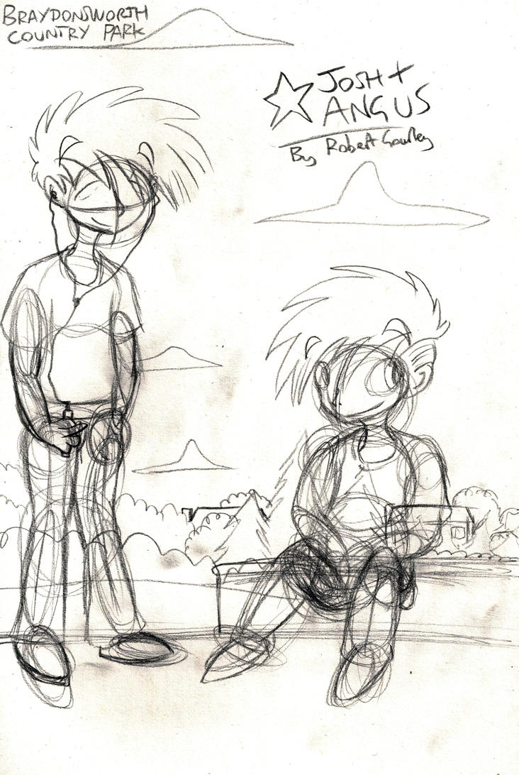 Unfinished Josh and Angus Park Sketch by Gourlish