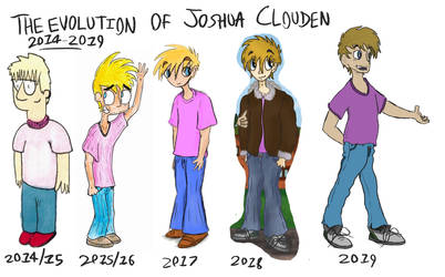 The Evolution of Joshua Clouden - 2014 to 2019 by Gourlish