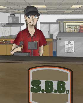 Josh working at S.B.B.