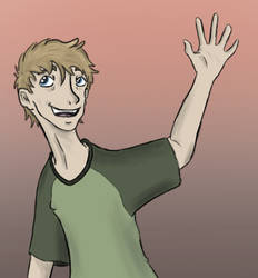 Josh waving