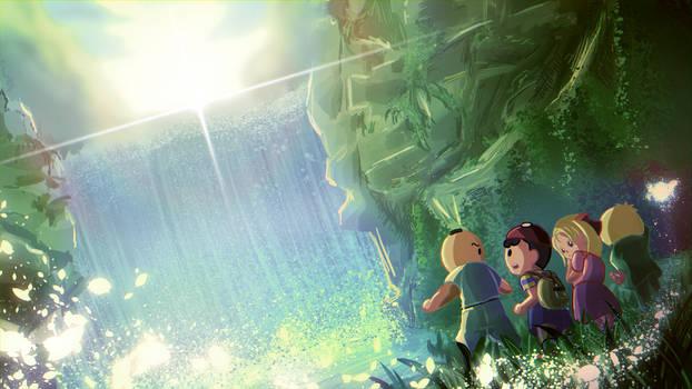 Earthbound Waterfall SCENE BOING