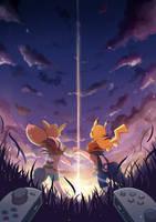 Pokemon Let's Go fanart by silverflamng