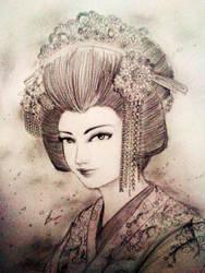 Fujiwara no Komachi by Gambargin