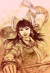 Hakurei Reimu from Touhou - A Sketch