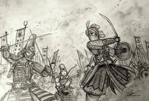 The Minamori Sisters vs Sheikha Ahu Durquba