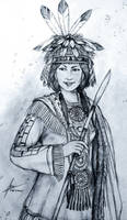 Princess Immookalee of Native American Tribes
