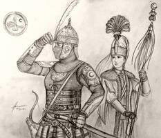 Ikhal Effendi Aydin and Ipek of Devleti Orhaniyye by Gambargin