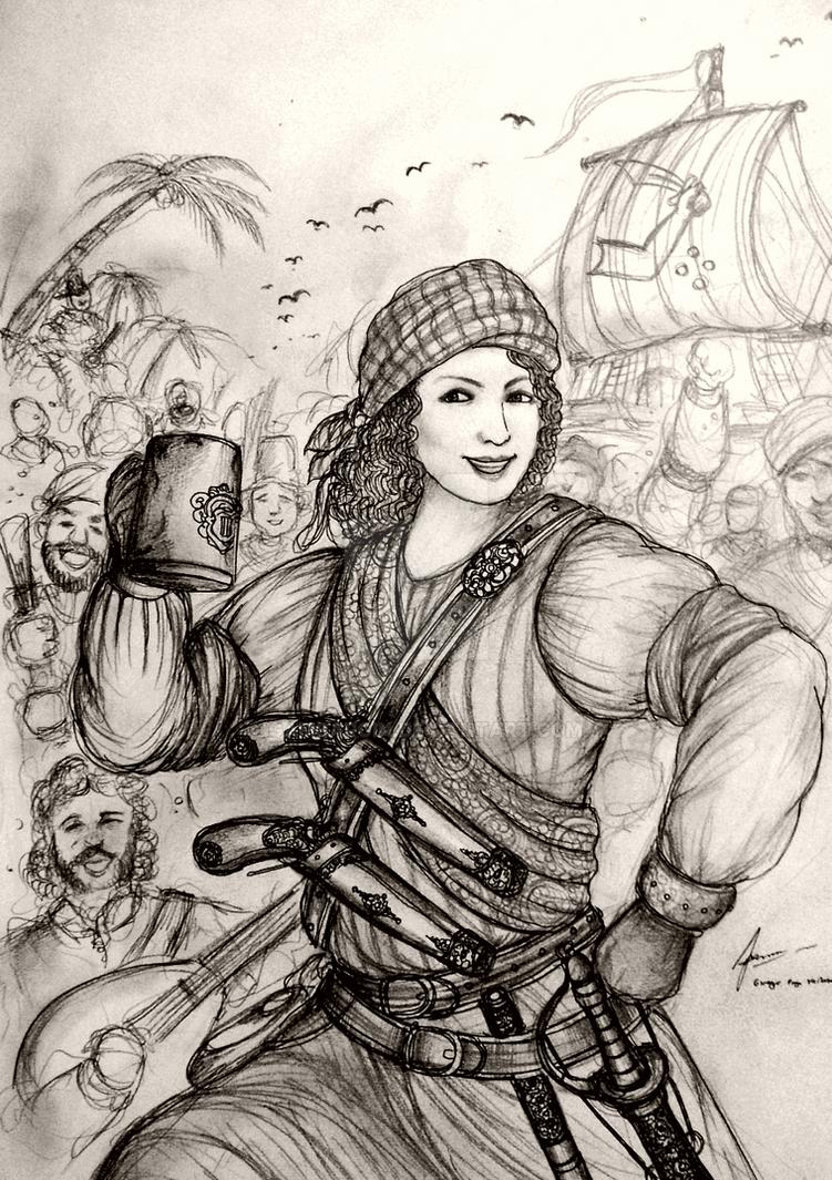 HWS Women Pirates - Dahlia of Caribbean Sea by Gambargin