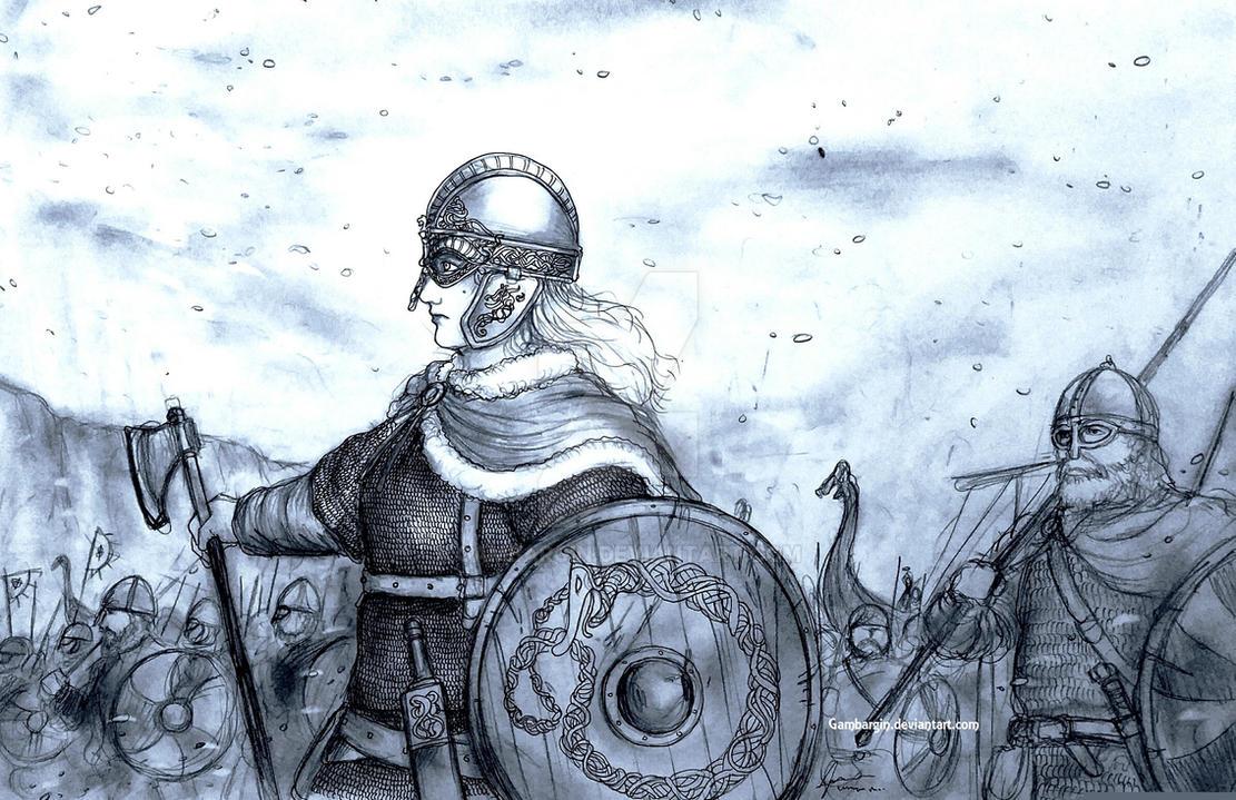 Fru Gunnhildr of Vikingrunionen (Norse) by Gambargin