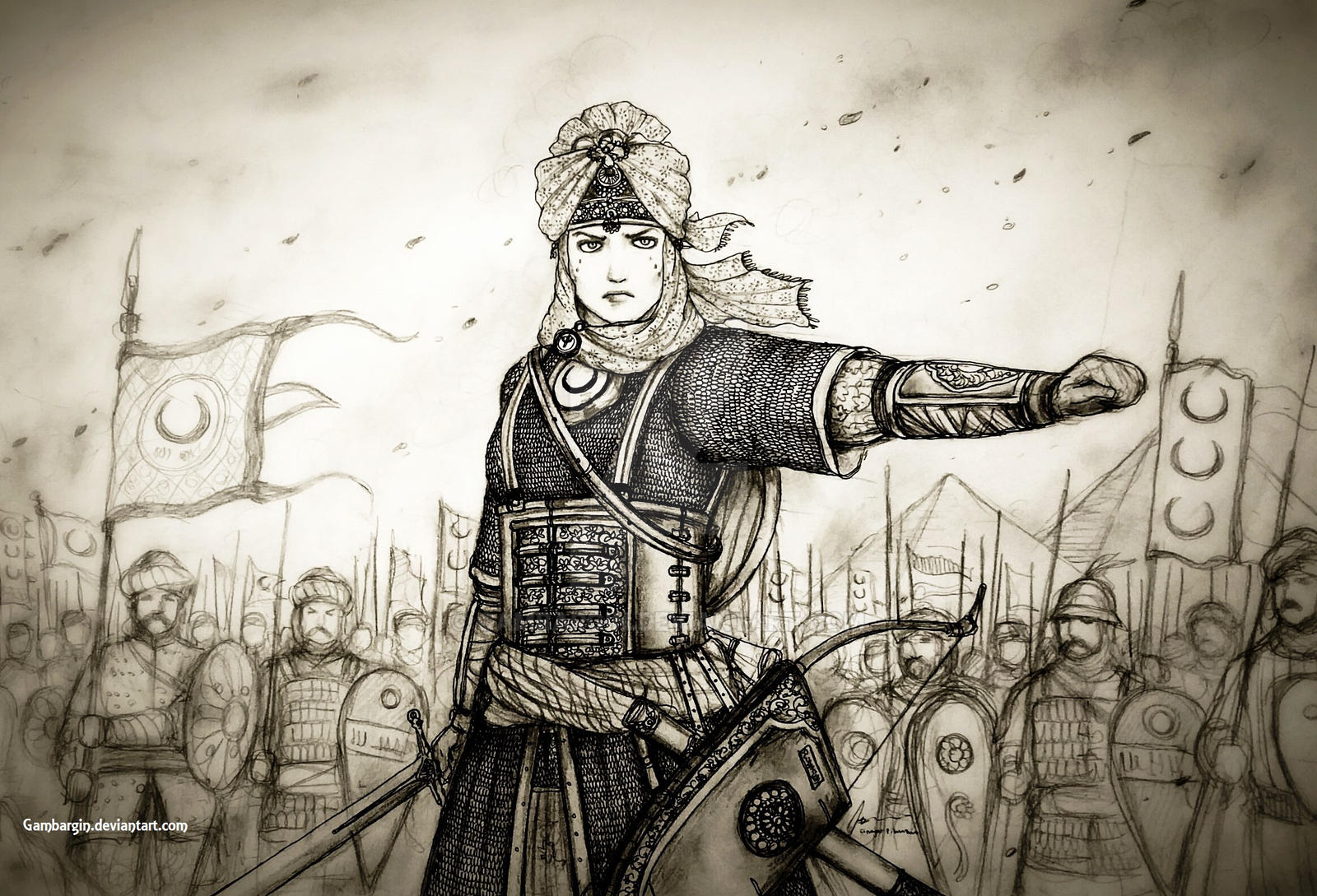 Sultana Ahu of Sultanat Misr Al-Sarraviyah (Egypt) by Gambargin