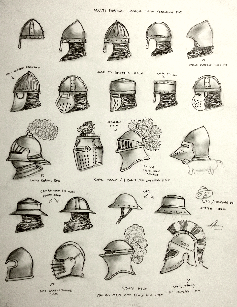 Project WARRGH - Medieval European Helmet part 1 by ...