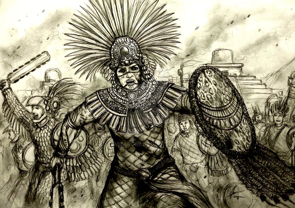 Ahuiliztli of Nahuatl Tlahtoloyan (Mesoamerican) by Gambargin