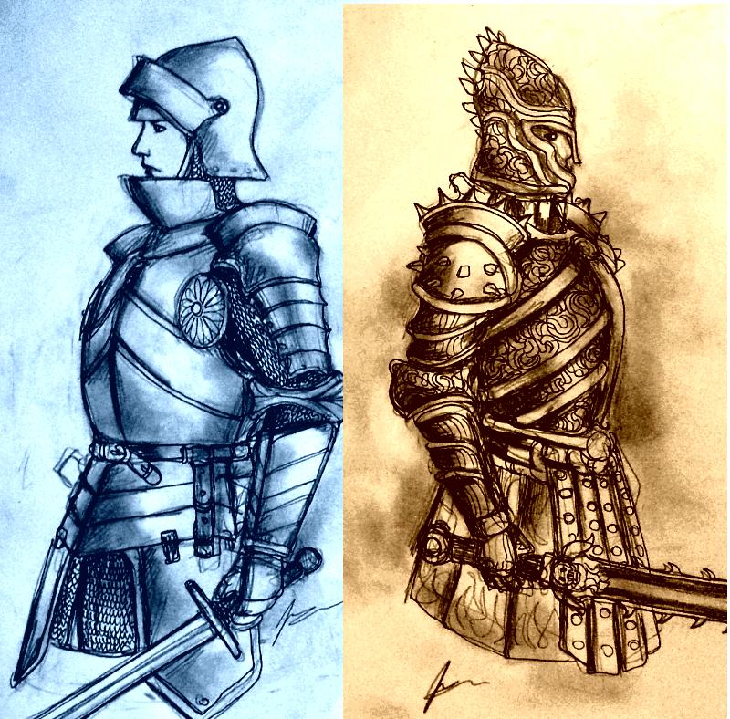 Women Warriors in Heavy Armor: Plain vs Evil? by Gambargin