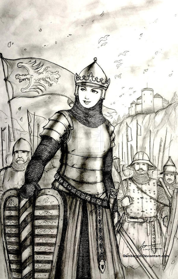 Jadwiga of Poland, 1387 AD - Women War Queens by Gambargin