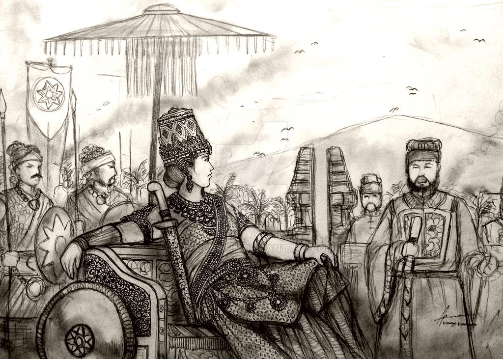 Ratu Wijaya Tunggadewi of Kerajaan Pulau Rempah by Gambargin