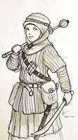 Fantasy Hijabi Woman Warrior