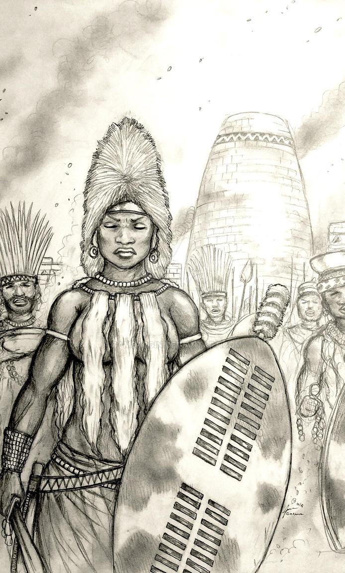 Mambokadzi Izibongo of Mwene a za-Mabwe (Zimbabwe) by Gambargin