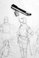 Medieval Occitan Woman Warrior (WIP)