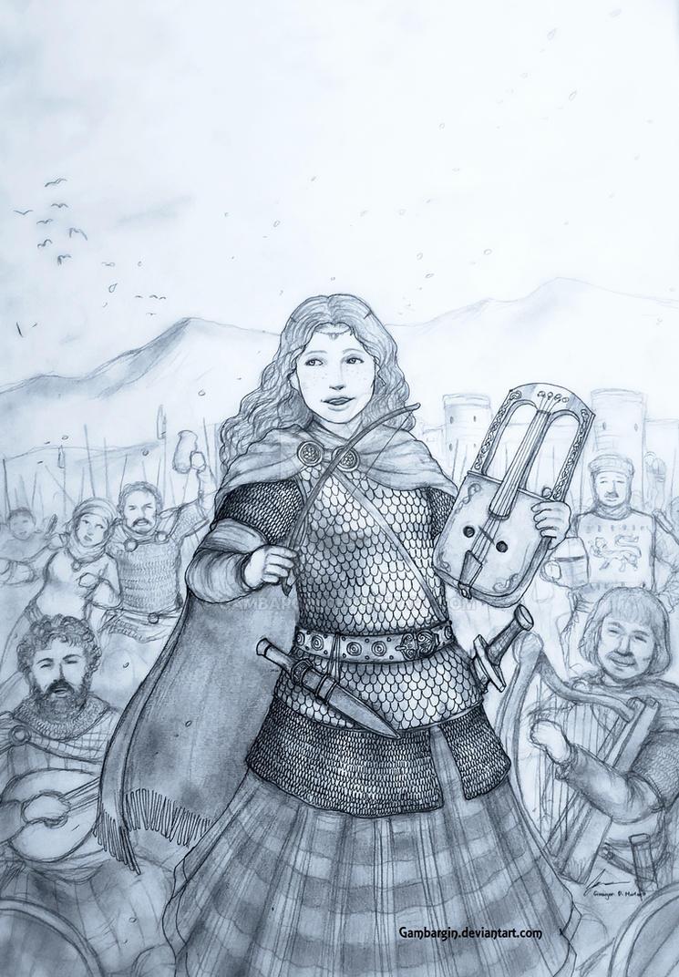 Tywysoges Gwenhwyfar ferch Pwyll of Cymry (Wales) by Gambargin