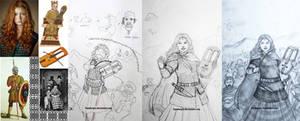 The Making of Gambargin Women Warrior Art
