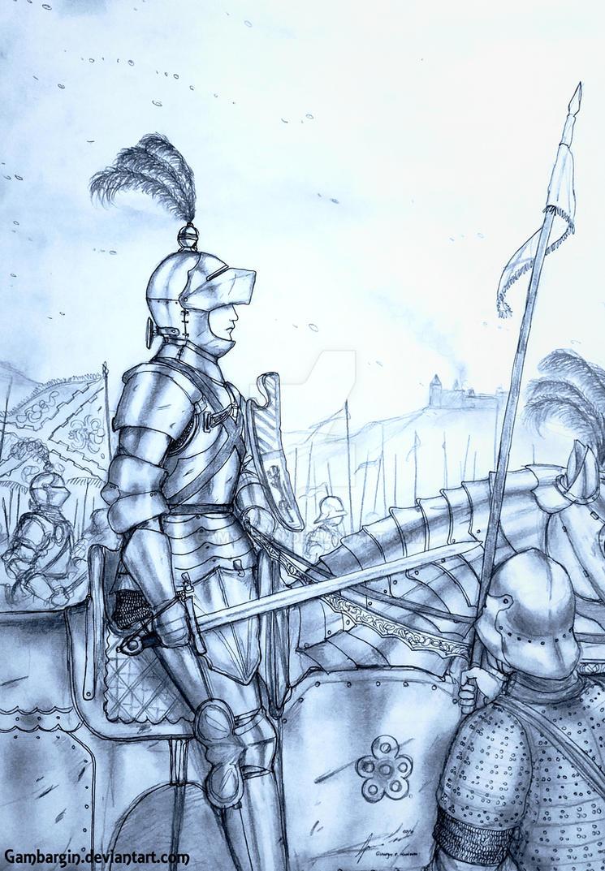 Baronne Almodis de Dijon of Duche de Bourgogne by Gambargin