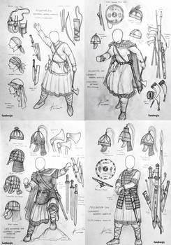 Migration Era Germanic Women Warriors Concept