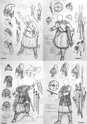 Migration Era Germanic Women Warriors Concept by Gambargin