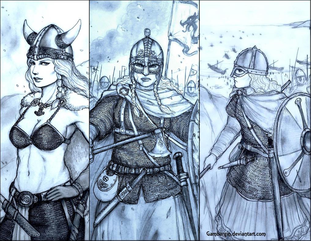 Viking Shieldmaidens Fantasy Vs Historical By Gambargin