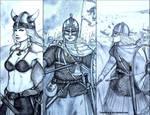 Viking Shieldmaidens: Fantasy vs Historical by Gambargin