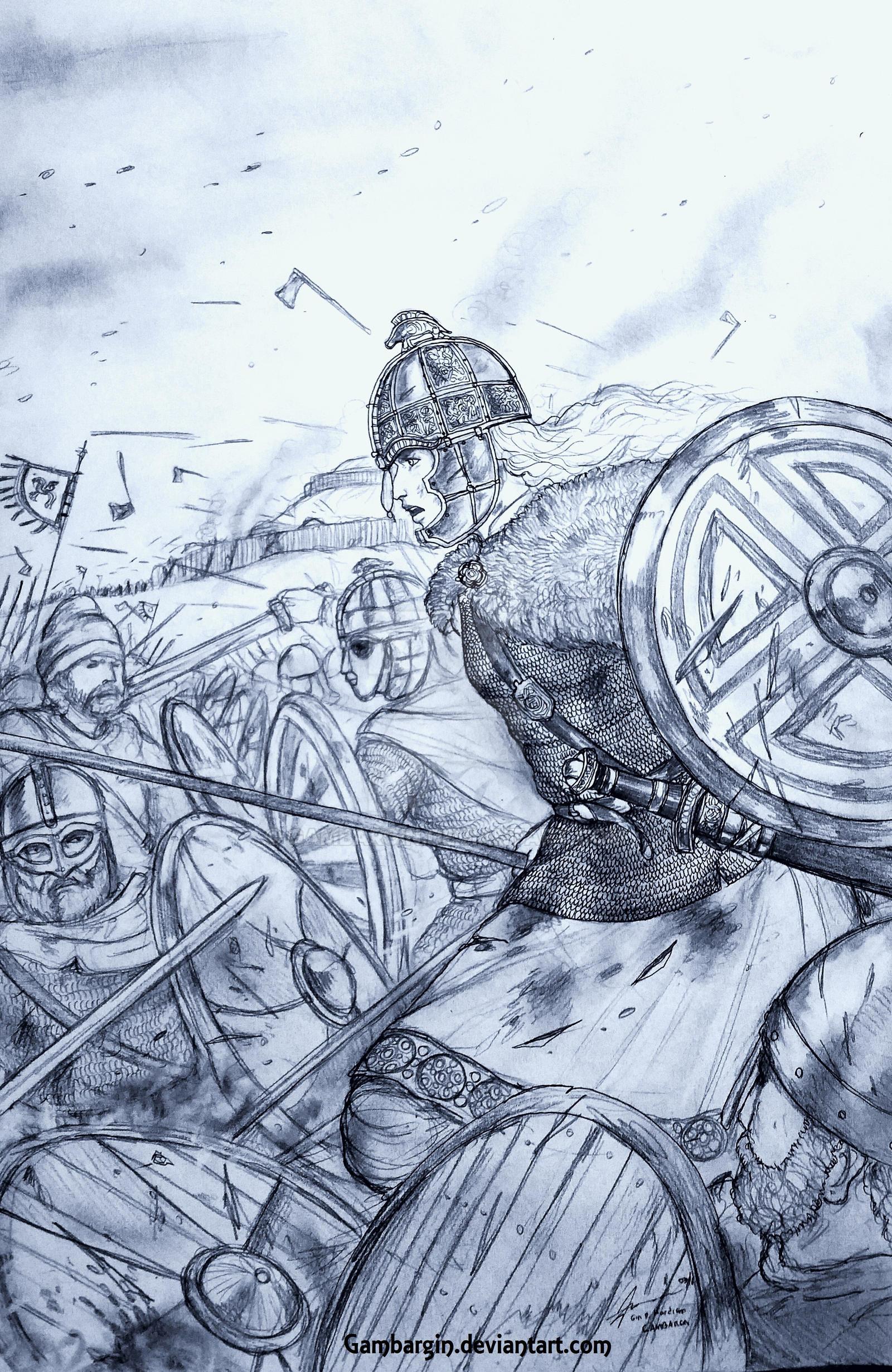 Frua Aelfwynn of Seaxna Rice (Anglo-Saxons) by Gambargin