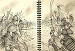 Saracen vs Samurai - A Historically Wrong Sketch