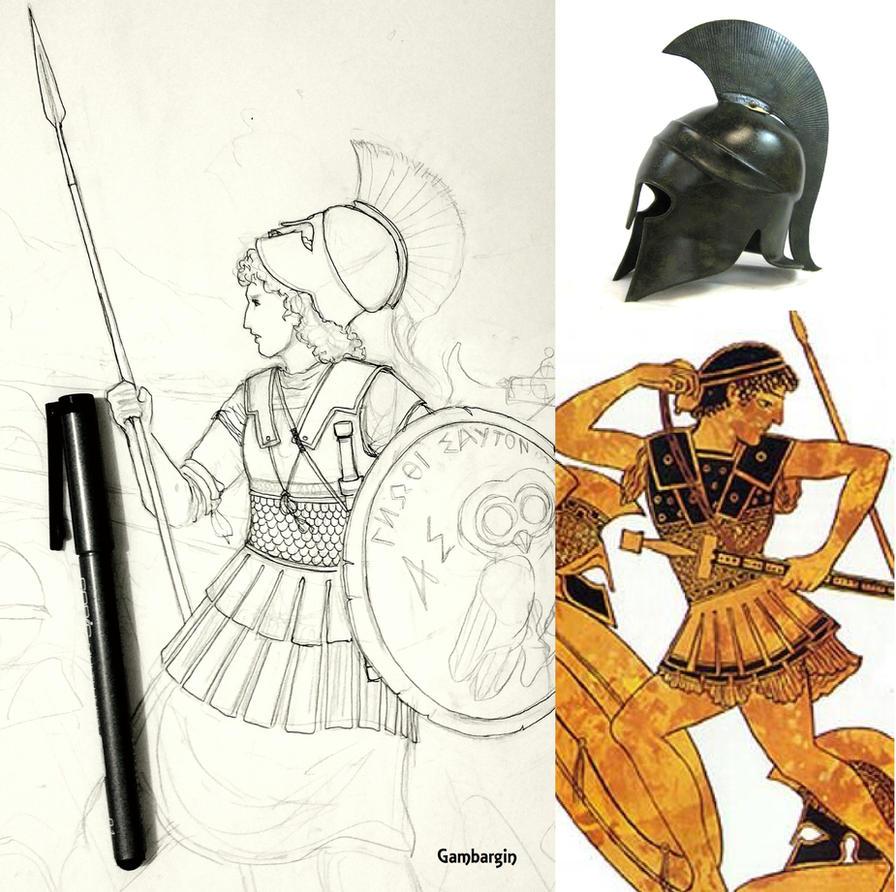 Greek Woman Warrior HWS Ancient Greek (Ath...