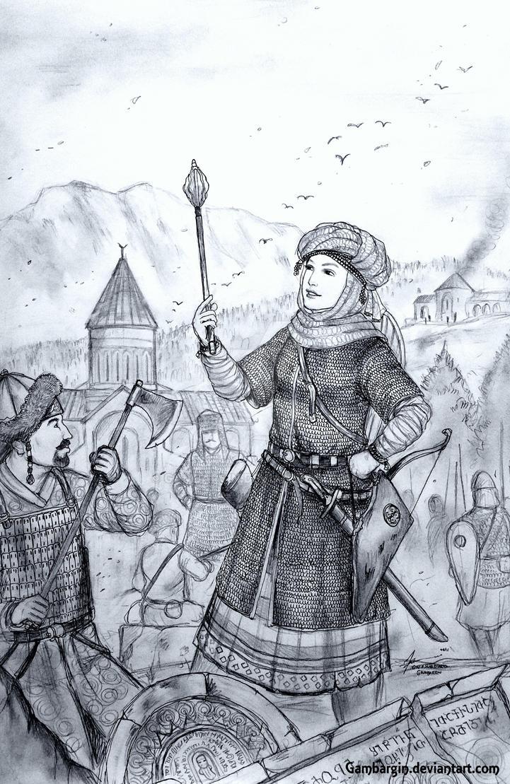 Nino Padlashvili of Kavkasia Samepo (Georgian) by Gambargin