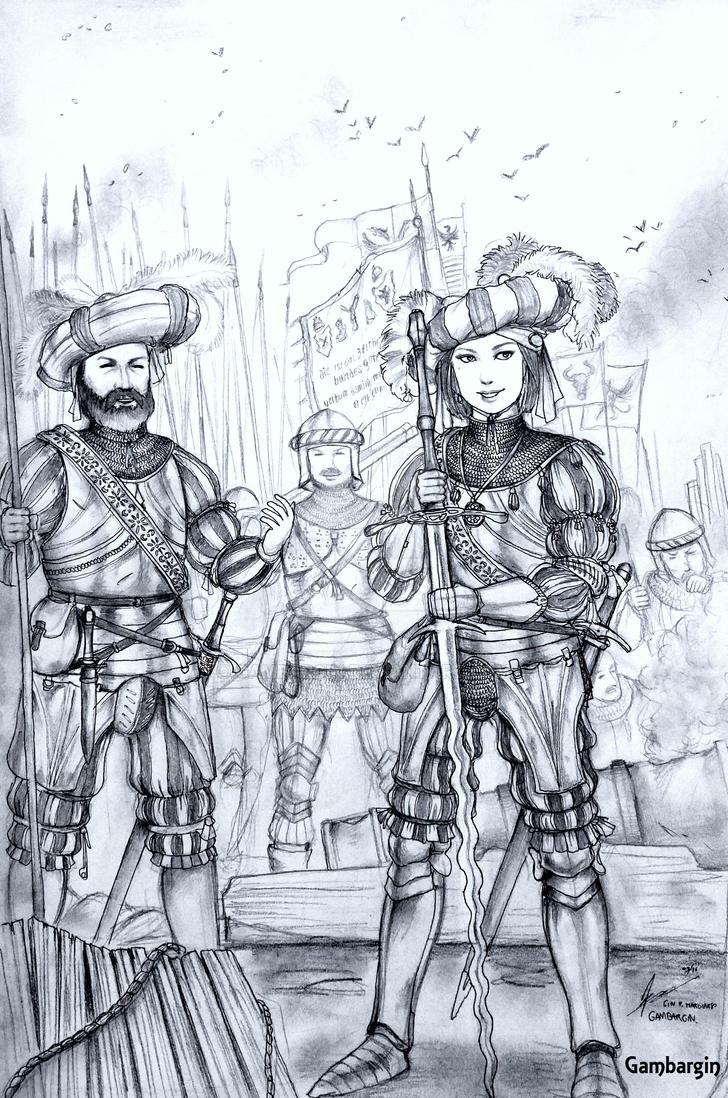 HWS Medieval Female Landsknecht Concept by Gambargin