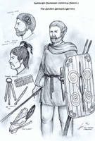 The Early Ancient Germanic Warriors by Gambargin