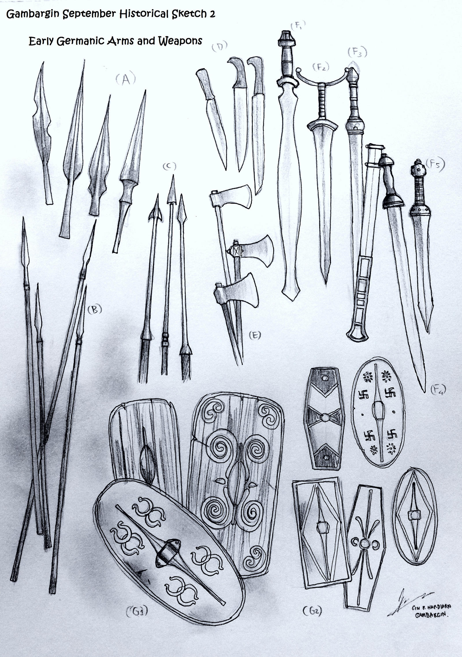 Weapons and Arms of Ancient Germanic Warriors