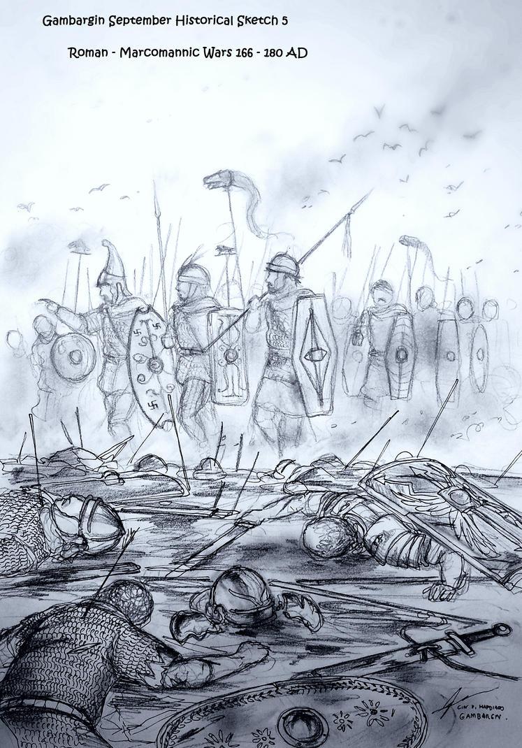 Roman - Marcomannic Wars (166 AD - 180 AD) by Gambargin