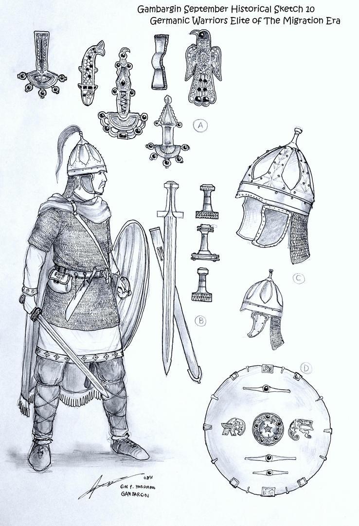 Germanic Warriors Elite of The Migration Era by Gambargin