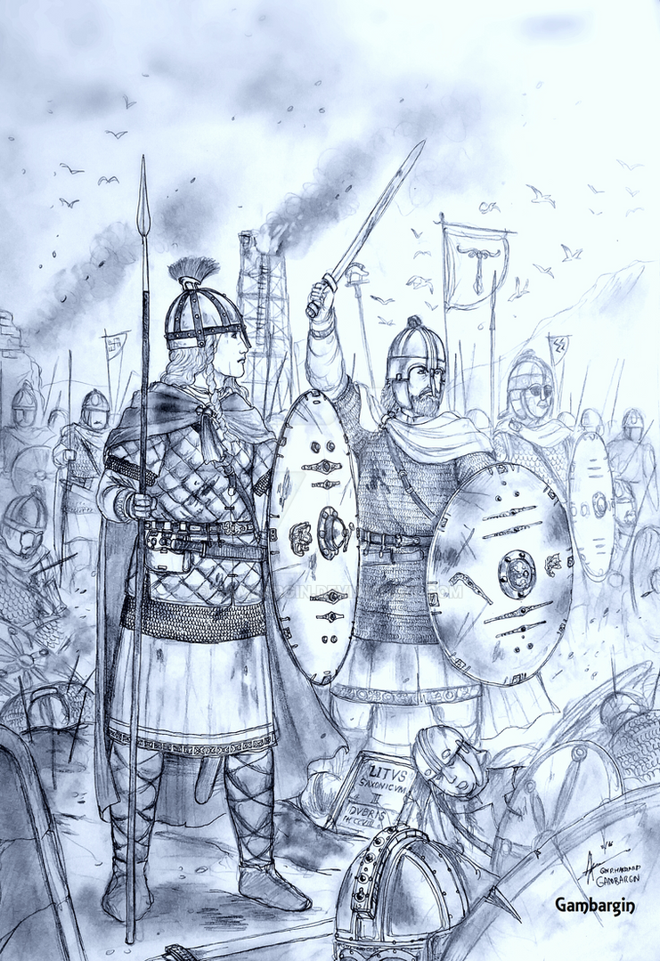 HWS Migration Era (Old) Saxon Shieldmaiden Concept by Gambargin